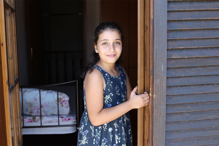 Syrian refugee girl in a protective apartment in Greece, Ioannina, supported by Terre des hommes (Tdh)